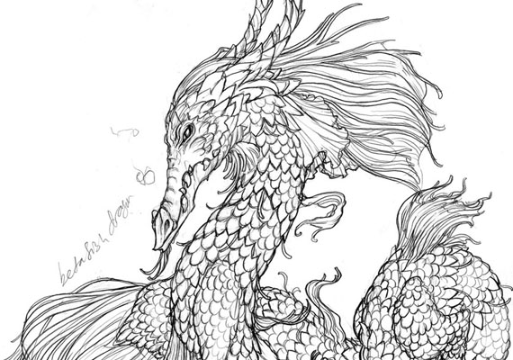 Like the fish, this dragon is super serious with serious fabulousness.